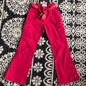 GAP flare stretch deep pink pant/8 pockets/CUTE